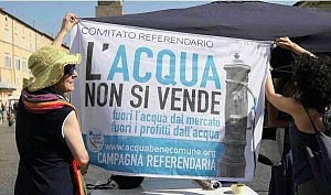 Acqua, Italia controcorrente, all'estero vince il pubblico