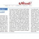 Frasi censurabili  - Articolo dall'Avanti della Domenica del 05/05/2013