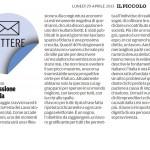 """Una riflessione necessaria - Segnalazione de""""Il Piccolo"""" del 29/04/2013"""