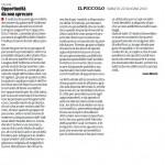 """Opportunità da non sprecare - Segnalazione de""""Il Piccolo"""" del 22/06/2013"""