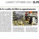 """Fenice, riprende la vendita dei libri su appuntamento - """"Il Piccolo"""",  CRONACA - 7/10/2013"""
