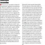 """Omofobia assassina - Segnalazione de""""Il Piccolo"""" del 01-11-2013"""