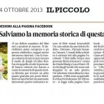 """Susanna Tamaro Salviamo la memoria storica - """"Il Piccolo"""",  CRONACA - 4/10/2013"""
