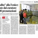 """Svendita alla Fenice - ricevute dal curatore già 400 prenotazioni - """"Il Piccolo"""",  CRONACA - 6/10/2013"""