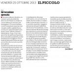 """Un'occasione sprecata - Segnalazione de""""Il Piccolo"""" del 25/10/2013"""