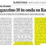 Magazzino 18 in onda su RaiUno - Mio intervento pubblicato sul Piccolo del 29/01/2014