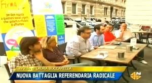 Servizio Tg TeleQuattro conferenza stampa referendum Cambiamo Noi