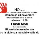 Flash mob – Giornata internazionale contro la violenza sulle donne