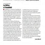 """Raiyoyo: la lirica e i bambini - Segnalazione de""""Il Piccolo"""" del 09/03/2014"""