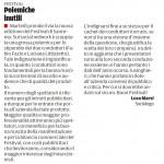"""Festival, polemiche inutili - Segnalazione de""""Il Piccolo"""" del 18/02/2014"""